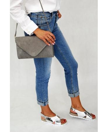 spodnie cambio błękitne