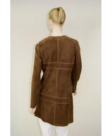 płaszcz brązowy riani