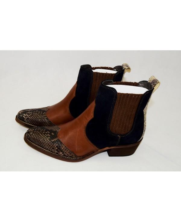 buty riani 37 czarno-brązowe